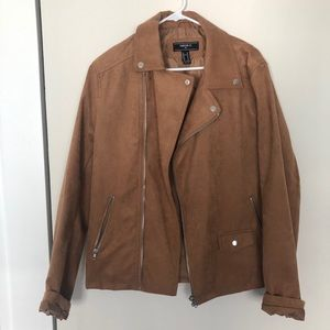 Faux suede Moro jacket from F21
